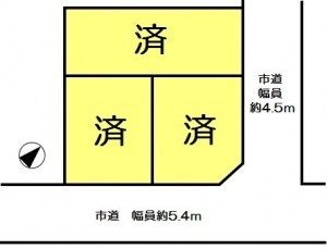 南山田区画図2