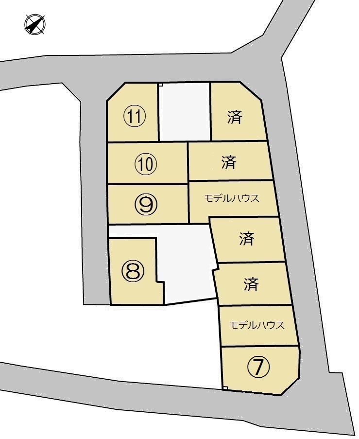 苅原・綣4丁目区画図2